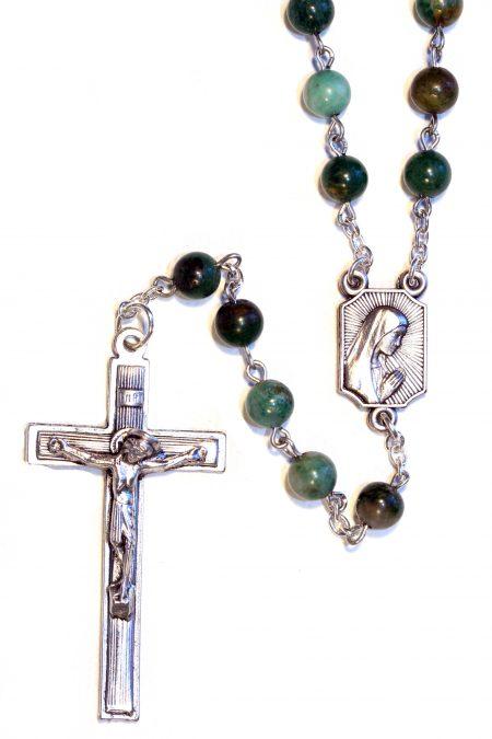 African Jade Gemstone Rosary