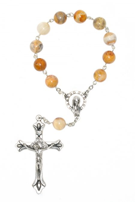 Agate Pocket or Auto Rosary