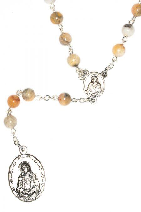 Agate Gemstone Seven Sorrows Rosary