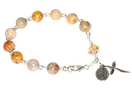 Agate Gemstone Rosary Bracelet