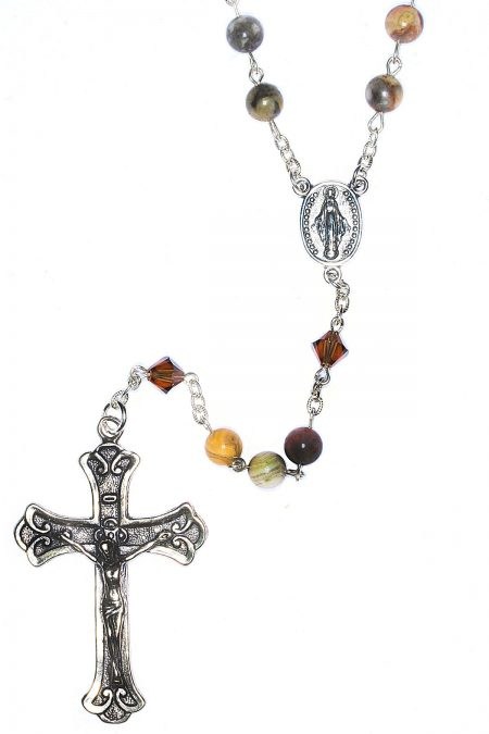 Agate Gemstone Sterling Silver Rosary
