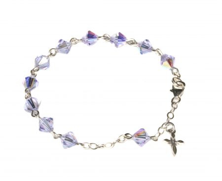 Alexandrite Swarovski Crystal Child Rosary Bracelet (June)