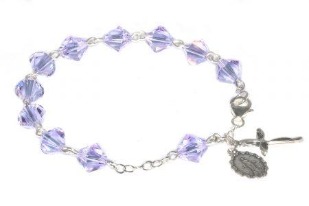 Alexandrite Swarovski Crystal Rosary Bracelet (June)