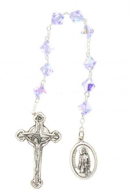 Alexandrite Swarovski Crystal St. Peregrine Chaplet (June)