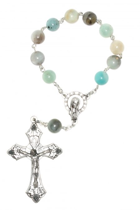 Amazonite Pocket or Auto Rosary