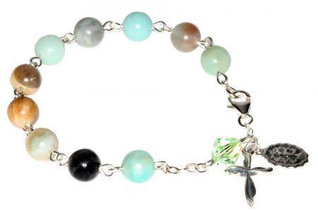 Amazonite Gemstone Rosary Bracelet