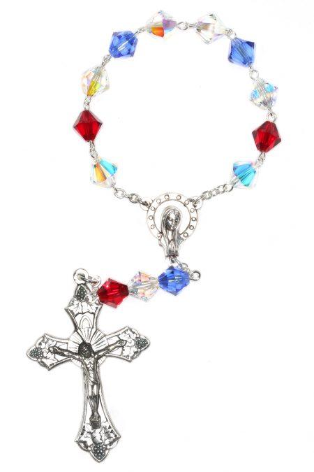 American Pride Swarovski Pocket or Auto Rosary