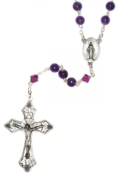 Amethyst Gemstone Rosary (February)
