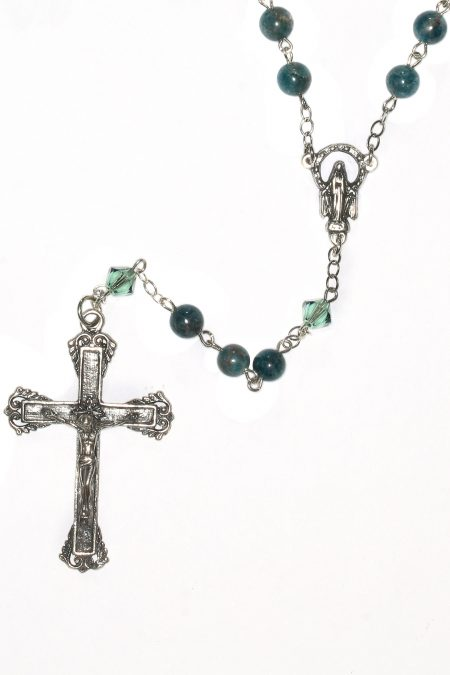 Apatite Gemstone Sterling Silver Rosary