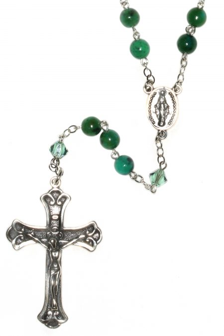 Azurite Gemstone Sterling Silver Rosary