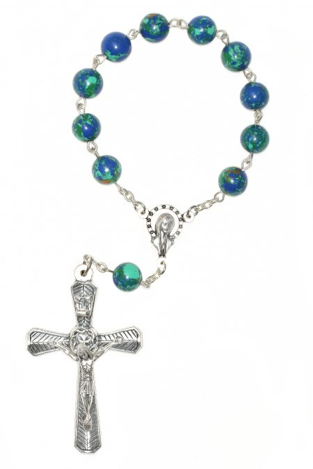 Azurite Pocket or Auto Rosary