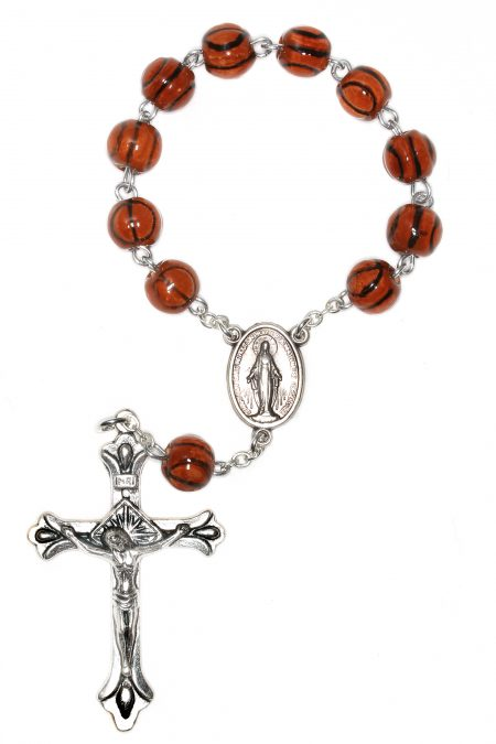 Basketball Pocket or Auto Rosary