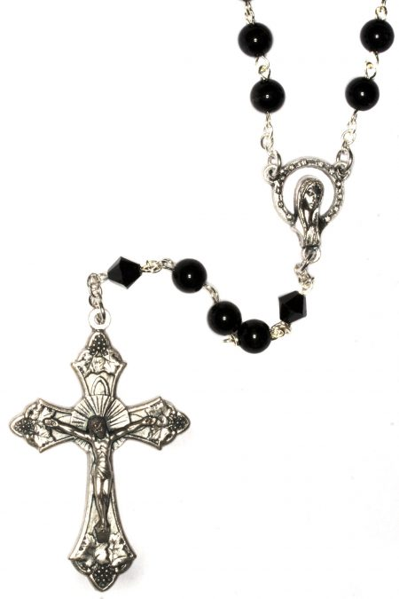 Black Obsidian Gemstone Rosary