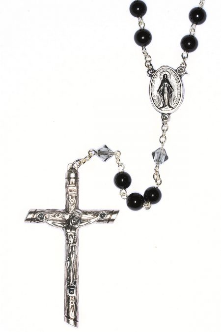 Black Onyx Gemstone Rosary