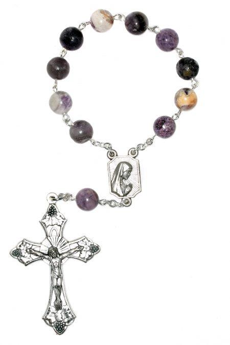 Charoite Gemstone Pocket or Auto Rosary