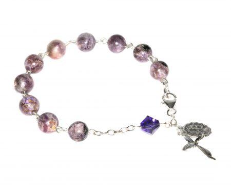 Charoite Gemstone Rosary Bracelet