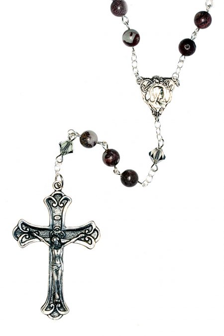 Crazy Horse Gemstone Sterling Silver Rosary