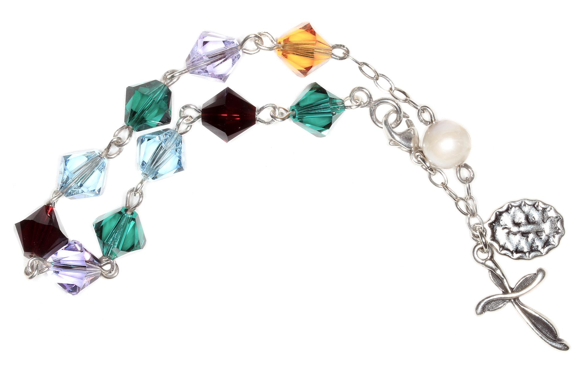 9409f7ab6 Custom Swarovski Crystal Rosary Bracelet | Shop Rosaries