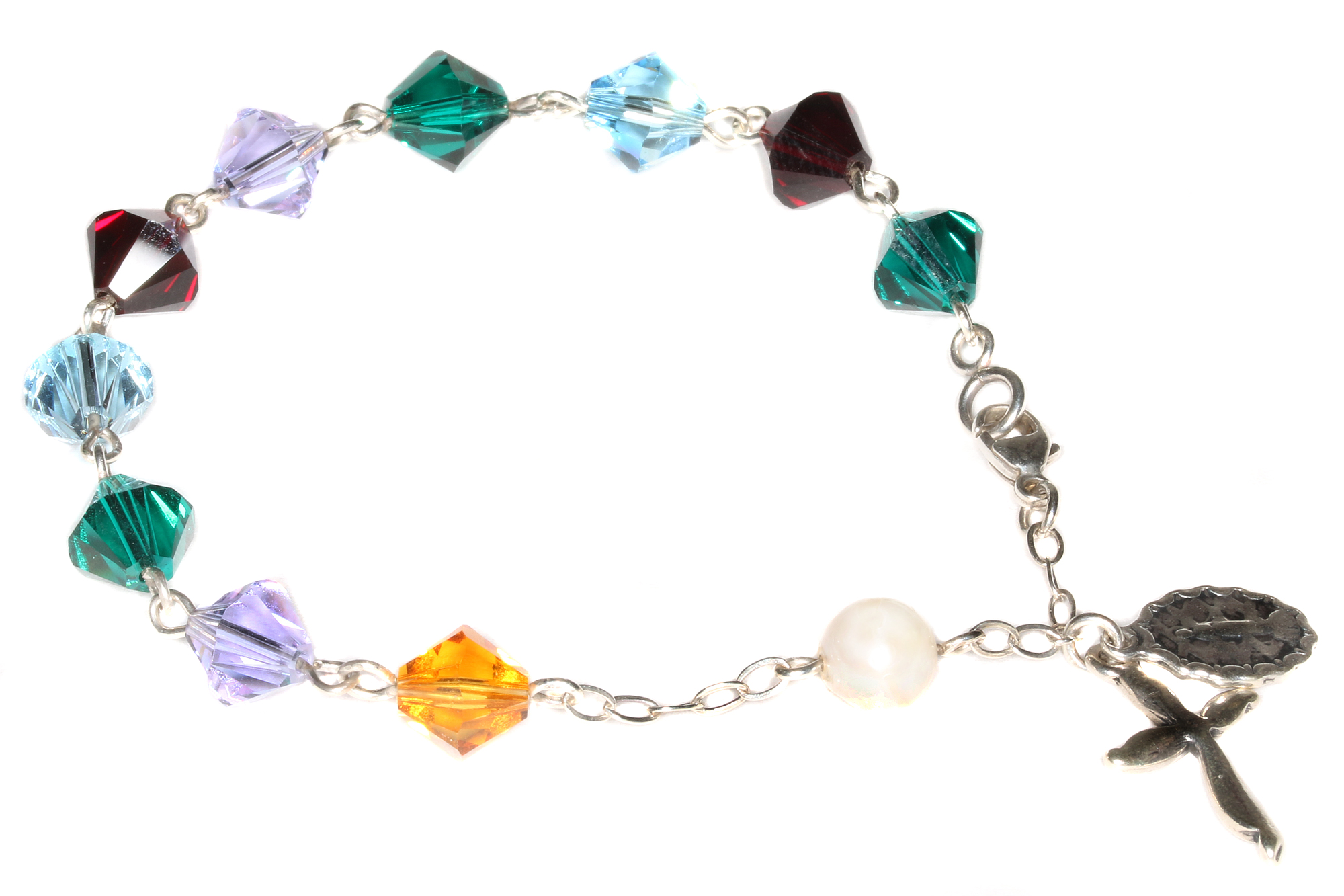 5ebdb29b5 Product Description. Aquamarine Swarovski Crystal Rosary Bracelet ...