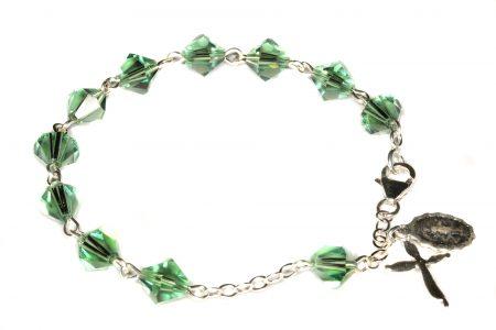 Erinite Swarovski Crystal Rosary Bracelet