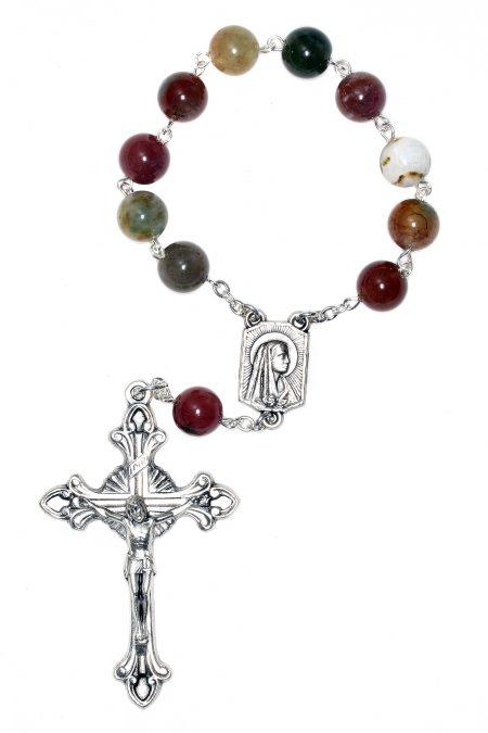 Fancy Jasper Pocket or Auto Rosary