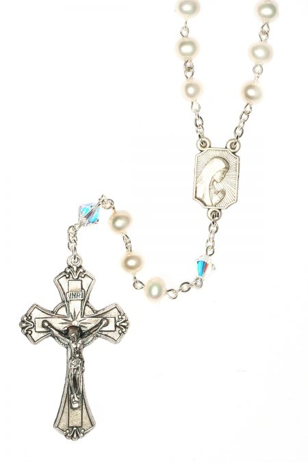 Cultured Freshwater Pearl Rosary (June)