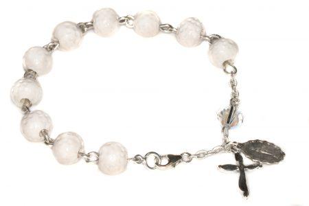 Golf Ceramic Sport Sterling Silver Rosary Bracelet