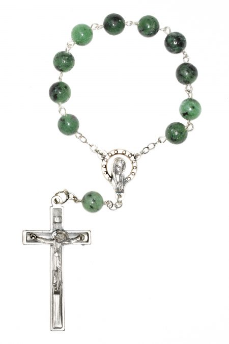 Zoisite Jasper Pocket or Auto Rosary
