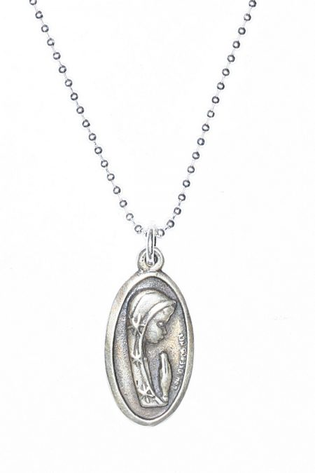 Prayerful Mary/Our Lady of Guadalupe Sterling Silver Necklace