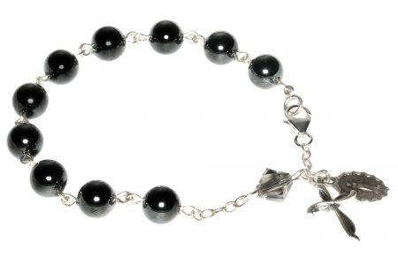 Hemalyke / Hematite Gemstone Rosary Bracelet