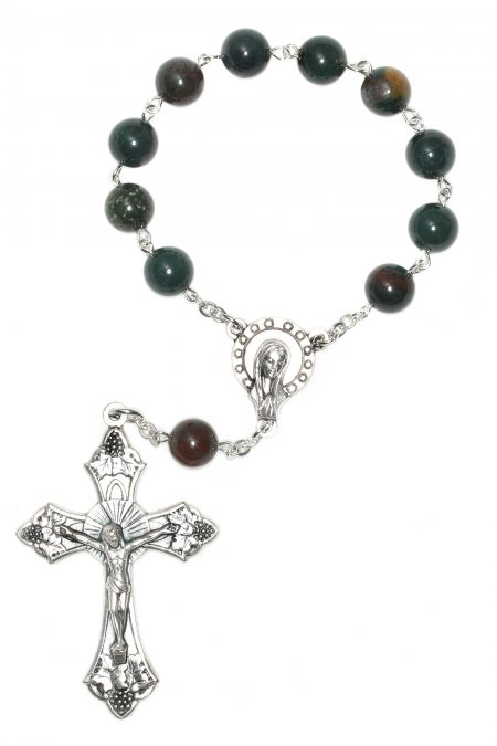 Indian Bloodstone Pocket or Auto Rosary