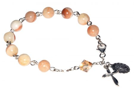 Italian Onyx Gemstone Rosary Bracelet
