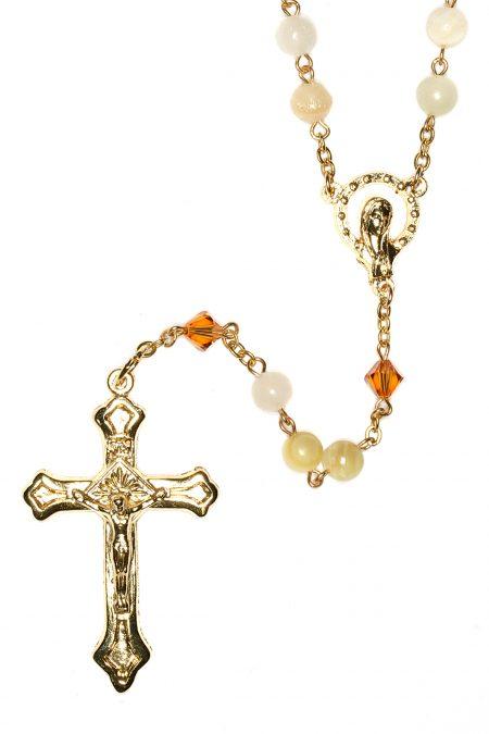 Italian Onyx Rosary (Gold)