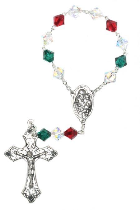 Italian Swarovski Pocket or Auto Rosary