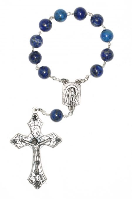 Lapis Gemstone Pocket or Auto Rosary