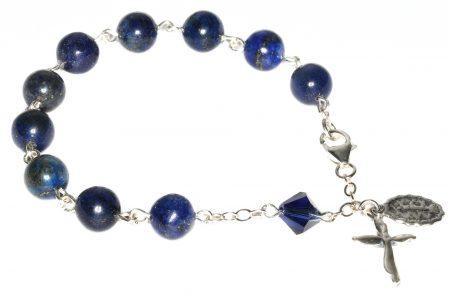 Lapis Gemstone Rosary Bracelet