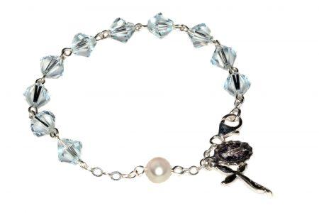 Light Azore Swarovski Crystal Rosary Bracelet