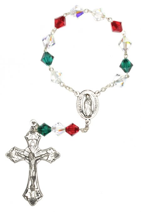 Mexican Swarovski Pocket or Auto Rosary