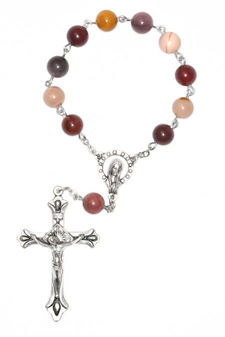 Moukaite Pocket Rosary or Auto Rosary