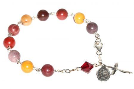 Moukaite Gemstone Rosary Bracelet