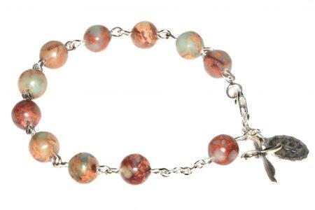 Green Opal Gemstone Rosary Bracelet