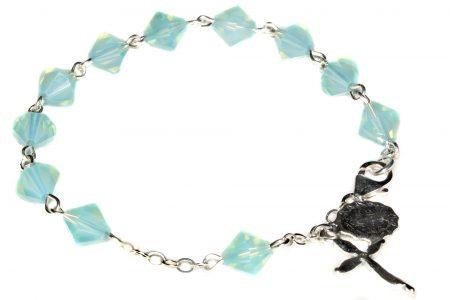 Pacific Opal Swarovski Crystal Rosary Bracelet (October)