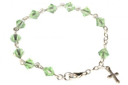 Peridot Swarovski Crystal Child Rosary Bracelet (August)