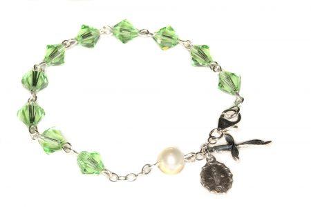 Peridot Swarovski Crystal Rosary Bracelet (August)