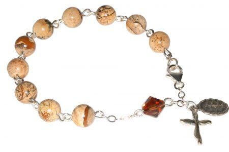 Picture Jasper Gemstone Rosary Bracelet