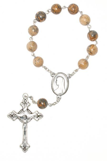 Picture Jasper Pocket or Auto Rosary