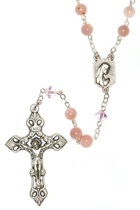 Pink Opal Gemstone Rosary
