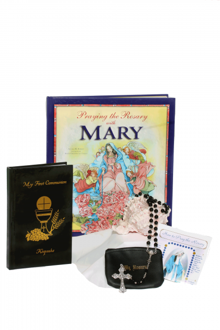 Deluxe Mary First Communion Gift Idea - Black