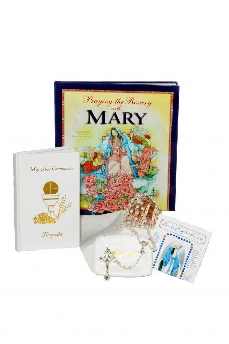 Deluxe Mary First Communion Gift Idea - White