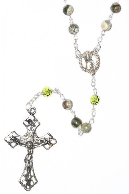 Rhyolite Gemstone Sterling Silver Rosary